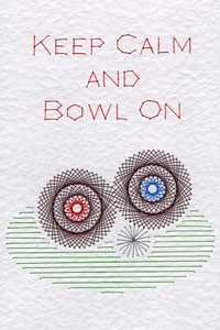 Lawn bowls pattern at Stitching Cards