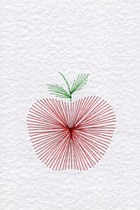 Apple pattern added at Stitching Cards
