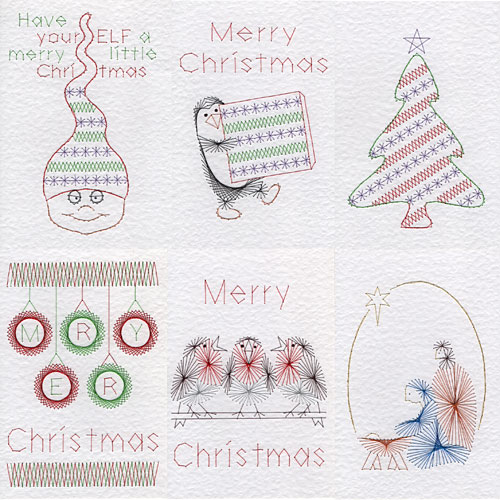 Christmas patterns at Stitching Cards