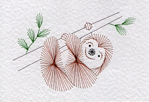 Sloth pattern at Stitching Cards