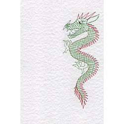 Chinese dragon pattern added at Stitching Cards