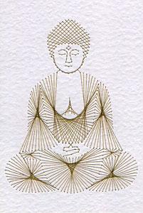 Buddha statue pattern at Stitching Cards