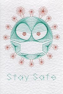 Stay safe pattern at Stitching Cards