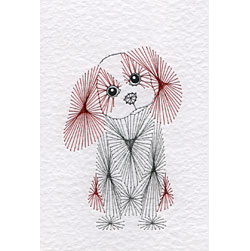 Cavalier King Charles Spaniel dog pattern at Stitching Cards
