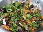 Mixed baby greens with orange vinaigrette