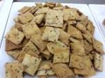 Parmesean and Sesame Crackers