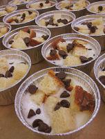 Bread Pudding soaking up the custard