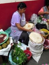 Tlayuda tortillas - the largest in Mexico!