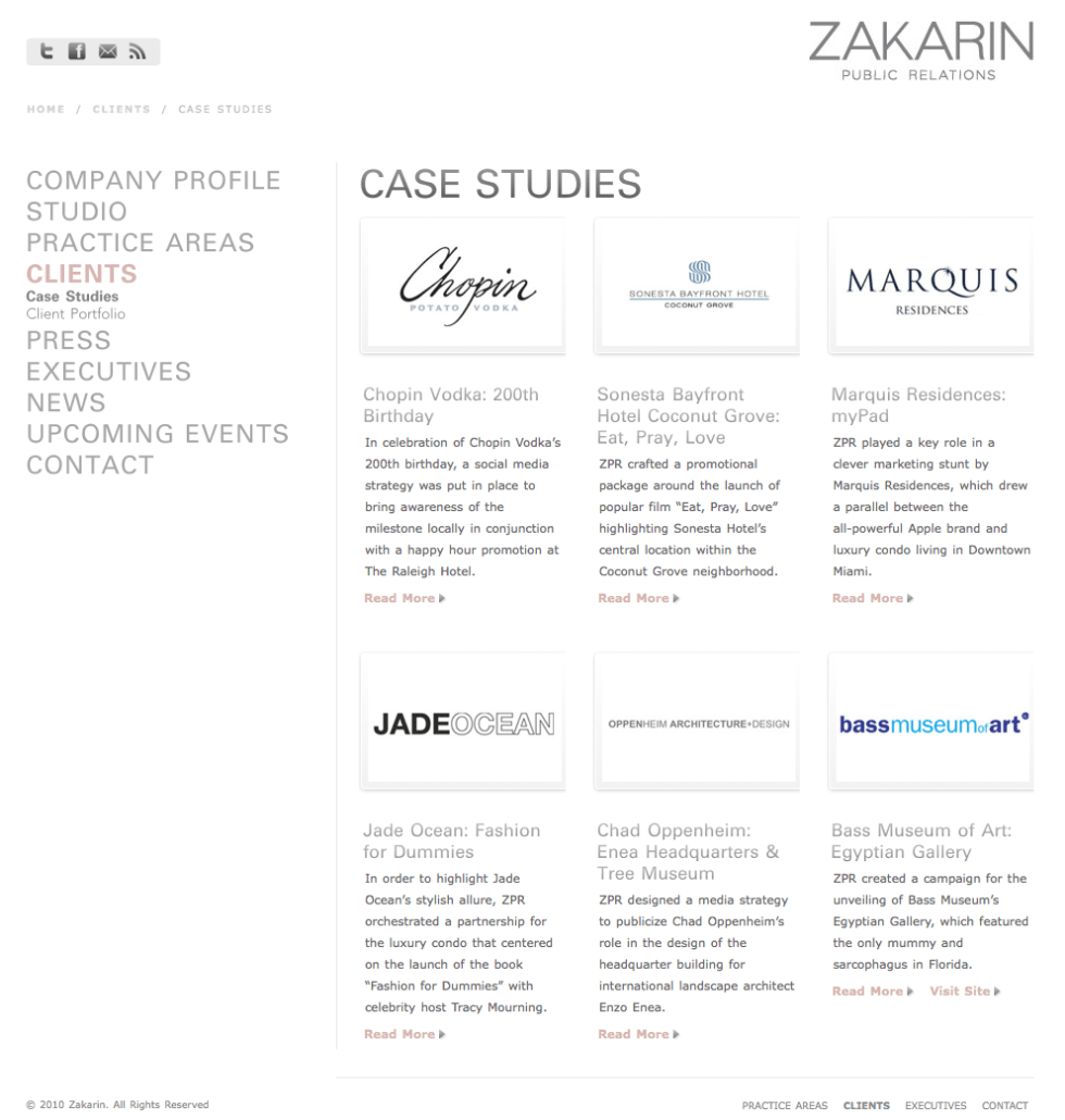 Zakarin Case Studies Page