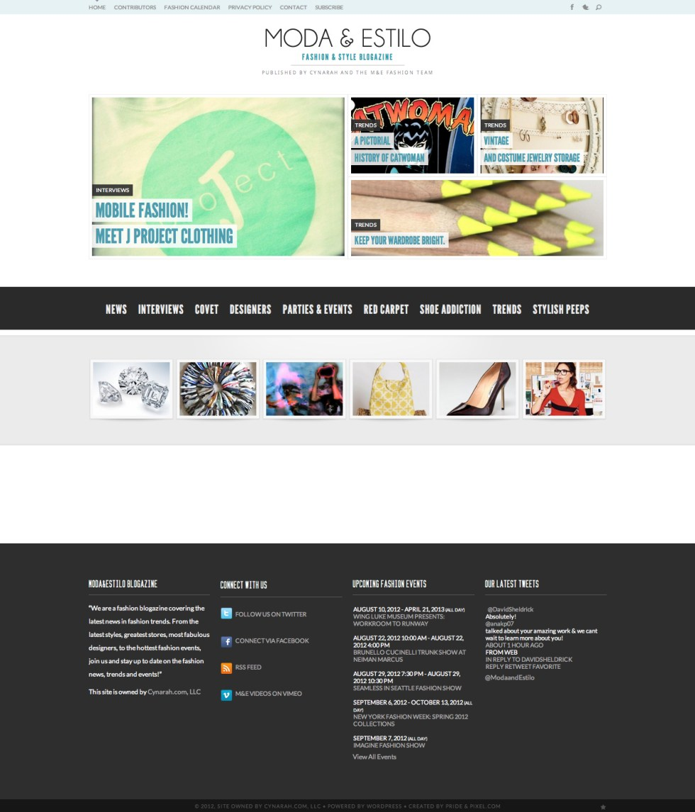 Moda and Estilo Home Page