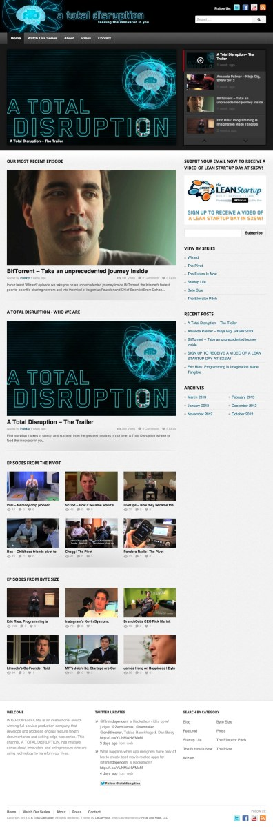 A Total Disruption : Feeding the Innovator in You