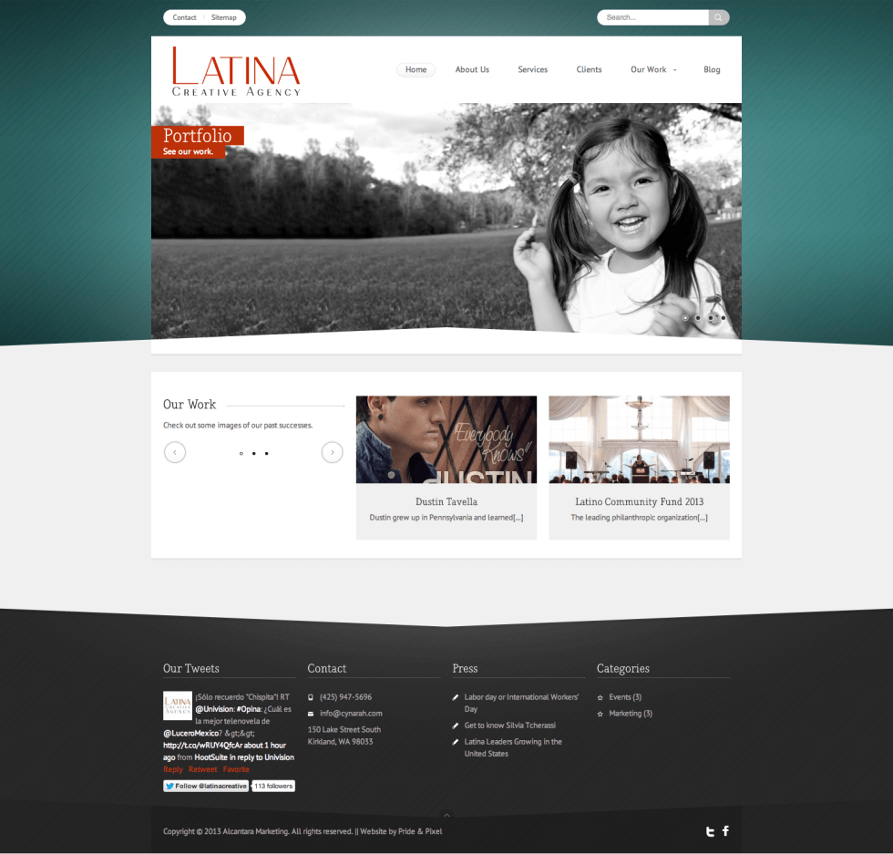 Latina Creative Agency Homepage
