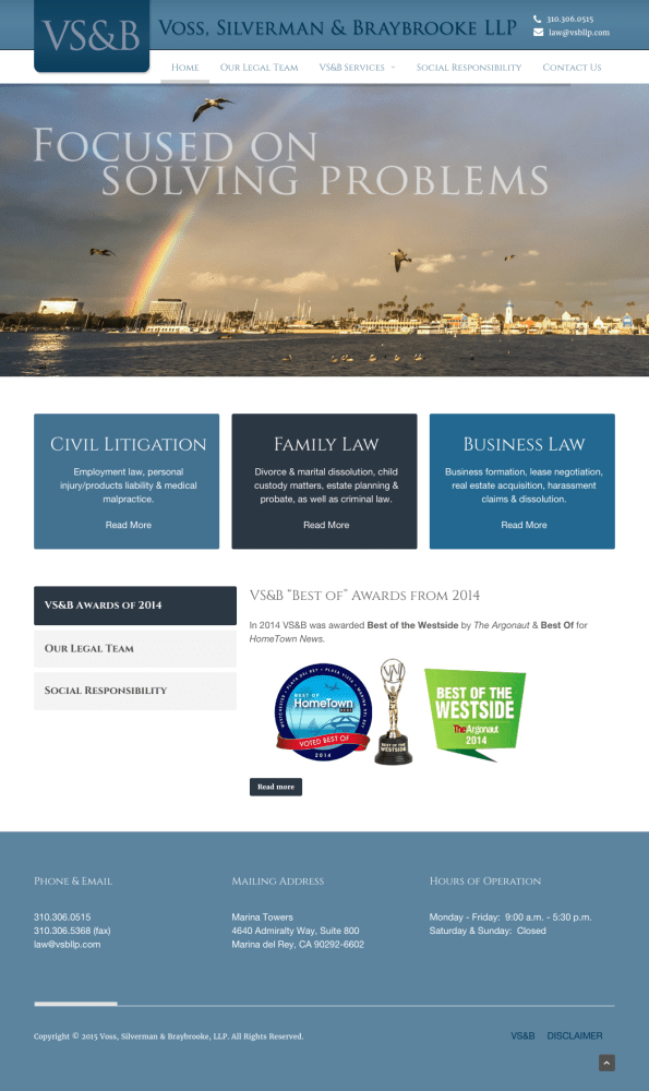 VS&B Law Homepage