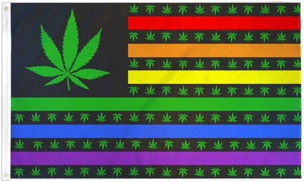 Weed US Rainbow Flag