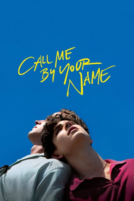 """Poster for """"Call Me by Your Name"""""""