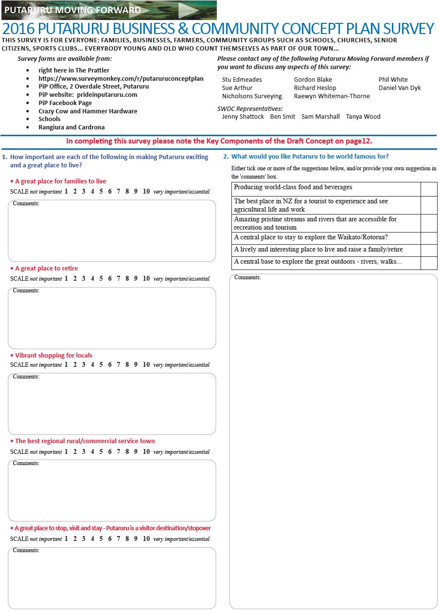 PiP Survey Page 1