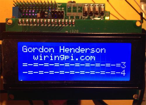 Raspberry Pi 20x4 Character LCD Master Board