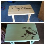 From Drab To Fab Tv Tray Makeover The Daily Adventure