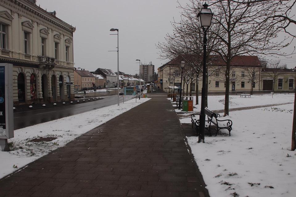 [FOTO] U Križevcima mir, tišina i snijeg