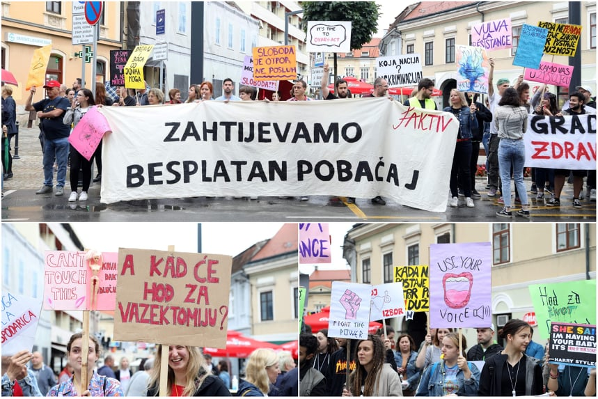 🖼️|🎦 Hod za slobodu kontra Hoda za život: 'Zahtijevamo besplatan pobačaj'