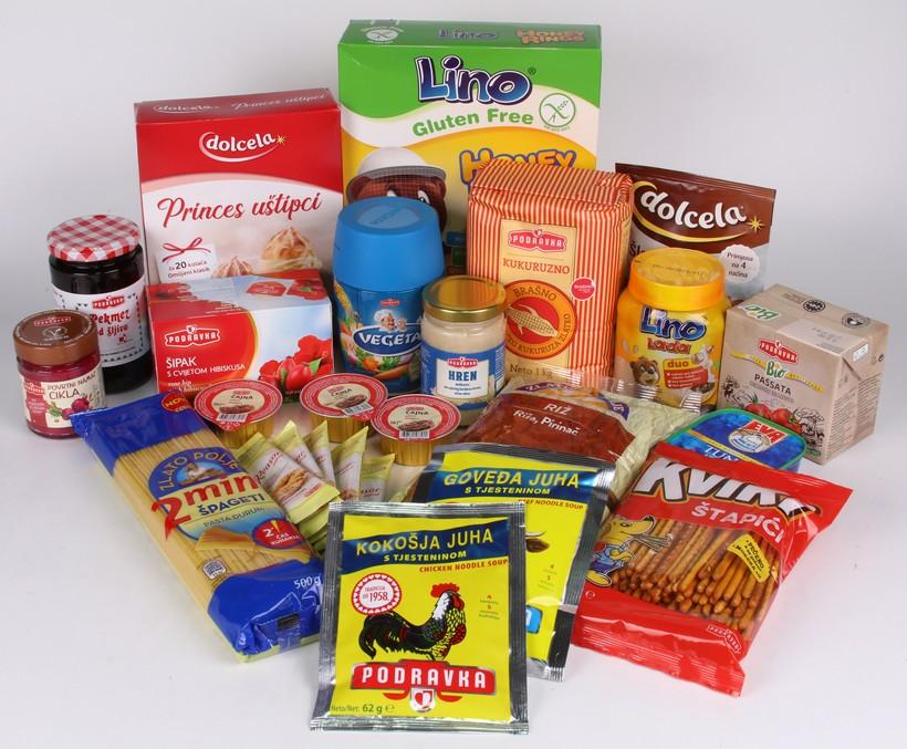 Paket Podravkinih proizvoda
