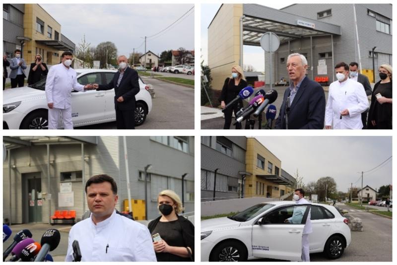 Dugo Selo ima novog ginekologa, a župan Zagrebačke županije Stjepan Kožić uručio mu ključeve novog automobila