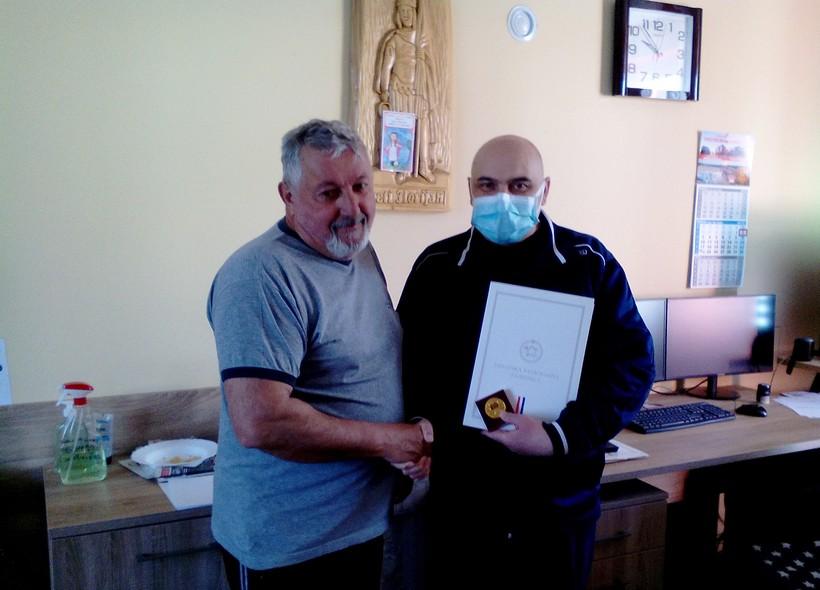 Martin Lukanec primio vatrogasnu spomenicu za 40 godina humanog rada u vatrogastvu