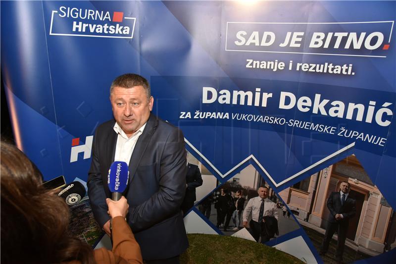 Damir Dekanić (HDZ) vukovarsko-srijemski župan