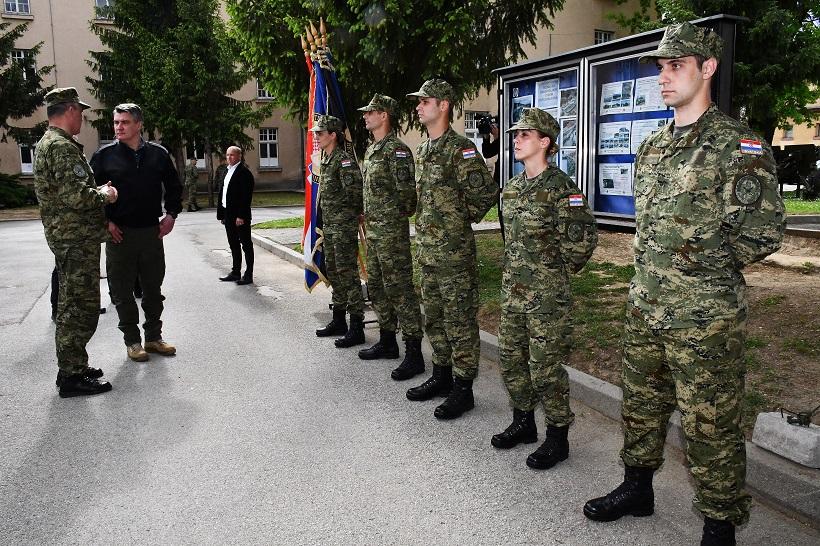 Požega: Predsjednik Zoran Milanović na polaganju prisege 30. naraštaja ročnika