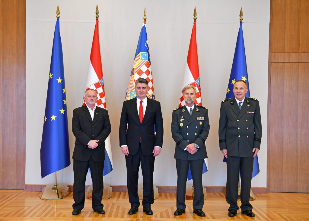Predsjednik Milanović primio vodstvo Udruge branitelja i veterana Vojne policije