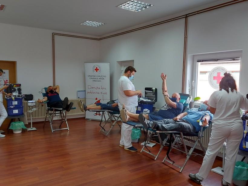 Dragovoljno darivanje krvi u Vrbovcu; krv dalo 103 dobrovoljnih darivatelja