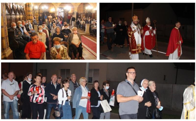 🖼️|🎦 Arhijerejskom liturgijom i procesijom sa svijećama završila devetnica sv. Marku Križevčaninu