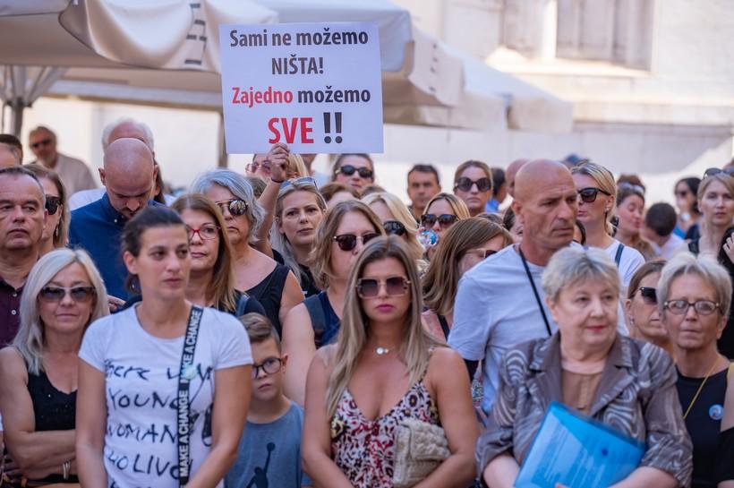 Prosvjed protiv epidemioloških mjera: 'Želimo slobodu odlučivanja'
