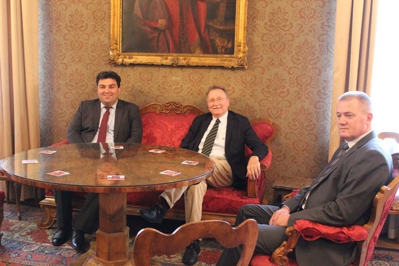 Gradonačelnik Rajn na prijemu kod predsjednika Hrvatske akademije znanosti i umjetnosti