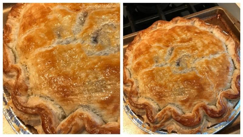 Пирог с курицей или тесто на ледяной воде