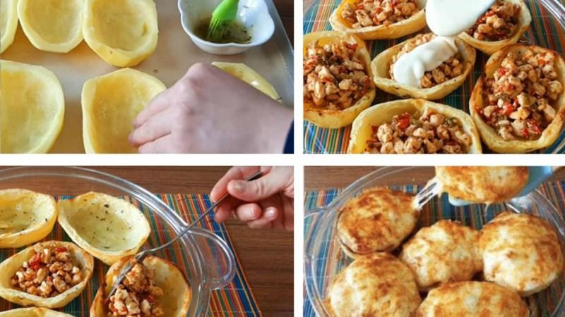 Рецепт фаршированного картофеля