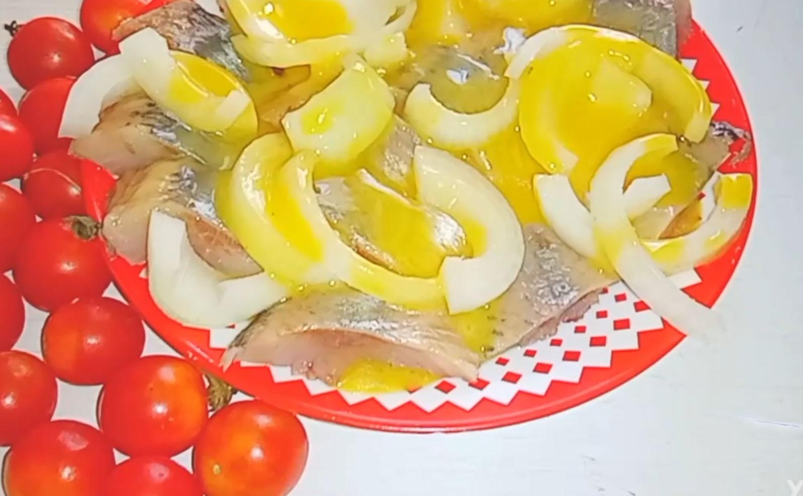 Селедка в горчичной заливке👍👍👍