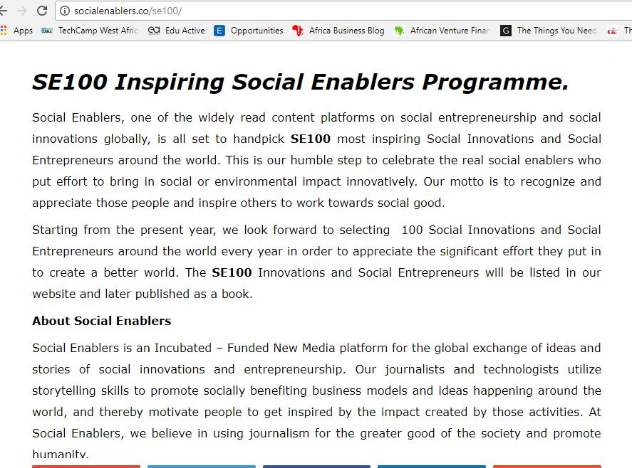 About Social Enabler (SE100)