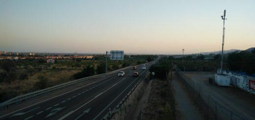 A road in Benicàssim