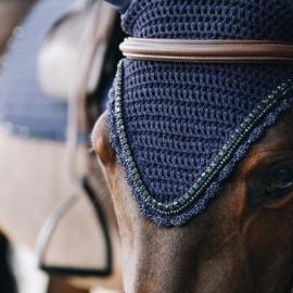 Kentucky Horsewear Fly Veil Long Stone & Pearl Navy
