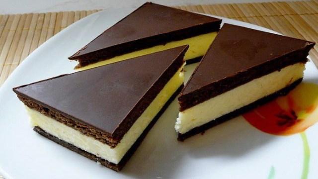 Výborné mléčné řezy s čokoládovou polevou - Prima inspirace