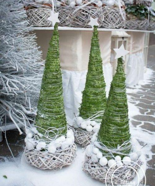 vánoční stromeček z provázku