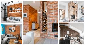Inspirace na cihlové obklady v obývacím pokoji