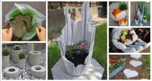betonová směs na květináče