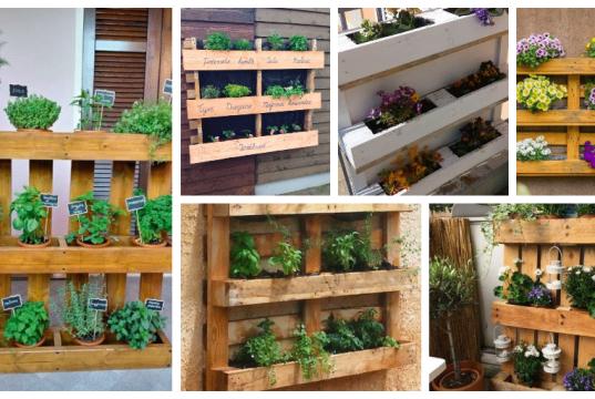 Inspirace z dřevěných palet: Vytvořte si květináče na pěstování bylinek