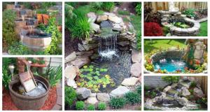 Inspirace na záhradní vodopád ze starých a nepoužívaných věcí