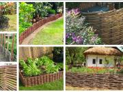 Inspirace na zahradní plot z proutí