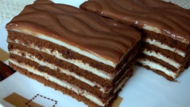 Recept na smetanové řezy s čokoládou