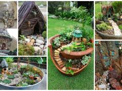Inspirace na pohádkové domečky na zahradu