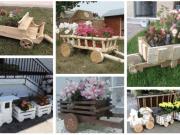 Skvělá inspirace na pojízdné zahradní květináče